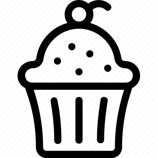 bakery, cherry, cupcake, food, sweet icon