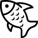 cook, fish, food, sea icon