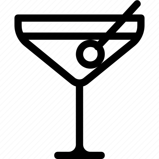 alcohol, cocktail, drink, glass, martini, party icon