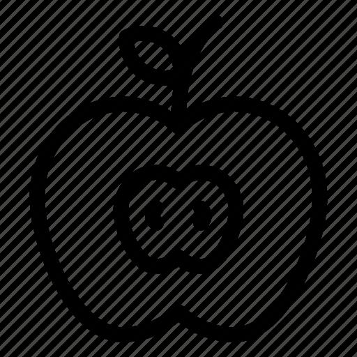 apple, food, fresh, fruit, kitchen icon
