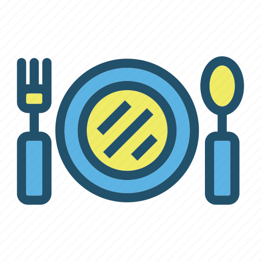 Eat, food, fork, kitchen, plate, restaurant, spoon icon - Download on Iconfinder