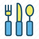 eat, food, fork, kitchen, knife, restaurant, spoon icon