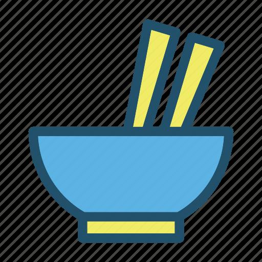 bowl, cook, eat, food, kitchen, noodle, restaurant icon