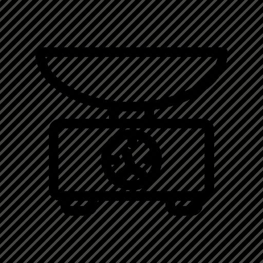 Balance, eat, food, kitchen, restaurant, scales, weigher icon - Download on Iconfinder