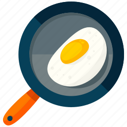 appliance, cook, egg, frying, kitchen, pan icon