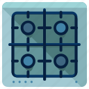 appliance, cook, cooking, gas, kitchen, stove, top icon