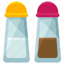 appliance, kitchen, pepper, salt, shaker, taste, tool icon