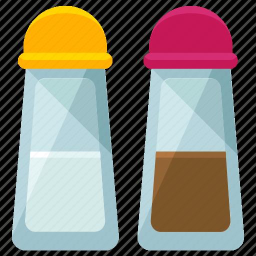 appliance, kitchen, pepper, salt, shaker, taste, tool icon