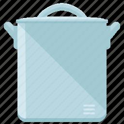 appliance, kitchen, pan, pot, steel, utensil icon