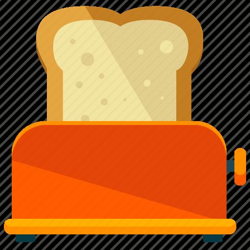 appliance, bread, kitchen, machine, toast, toaster icon