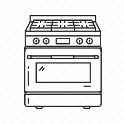 american stove, cook, food, kitchen, kitchen appliances, oven, stove icon