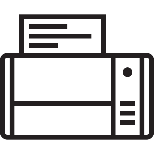 appliances, copier, fax, print, printer, scanner icon
