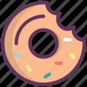breakfast, bun, dessert, donut, food, kitchen, sweet icon