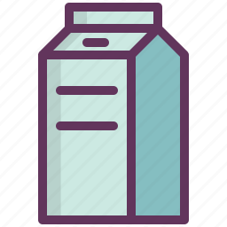 breakfast, cooking, drink, kitchen, milk, package, paper icon
