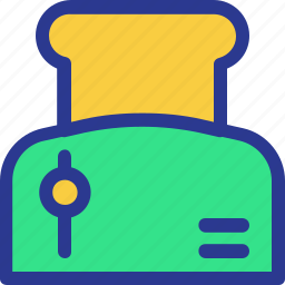 bread, bread toaster, cook, cooking, kitchen, utensil icon