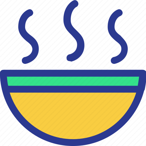 bowl, cook, cooking, dish, hot, kitchen, utensil icon