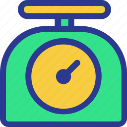 cook, cooking, kitchen, scale, utensil, weight, weight scale icon