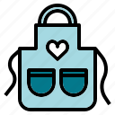 apron, clean, cook, kitchen, wear icon