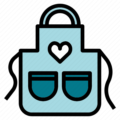 apron, clean, cook, kitchen, wear icon