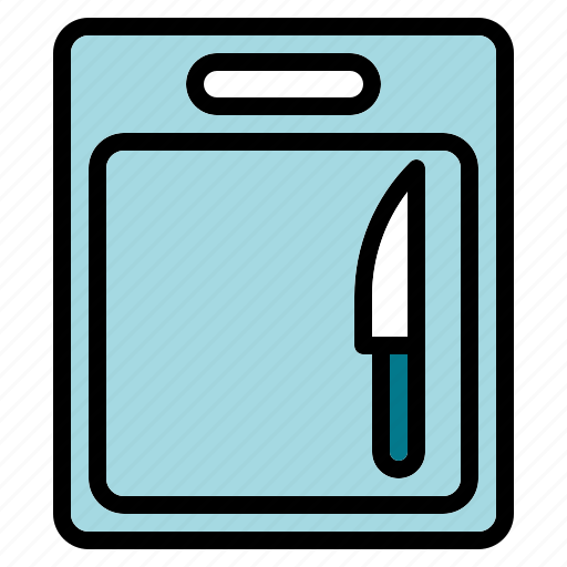 board, chopping, cook, kitchen, knife icon
