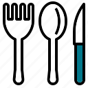 fork, kitchen, knife, spoon icon