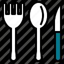 fork, kitchen, knife, spoon