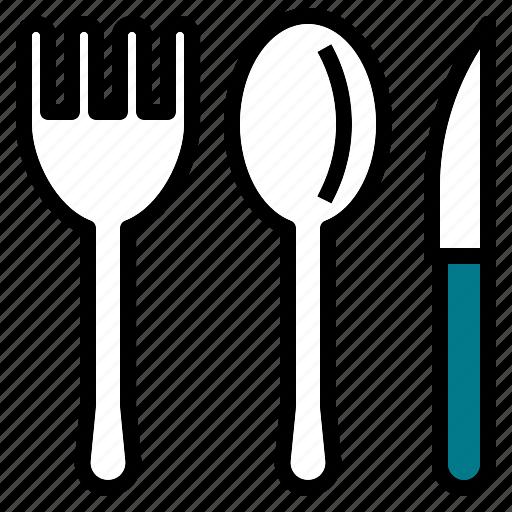 fork, kitchen, knife, spoon icon