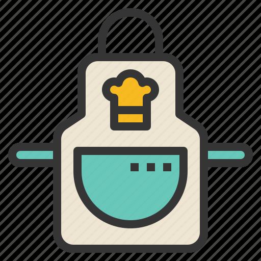 apron, clothes, cooking, kitchen icon