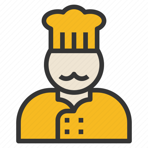 chef, cook, head, occupation, uniform icon