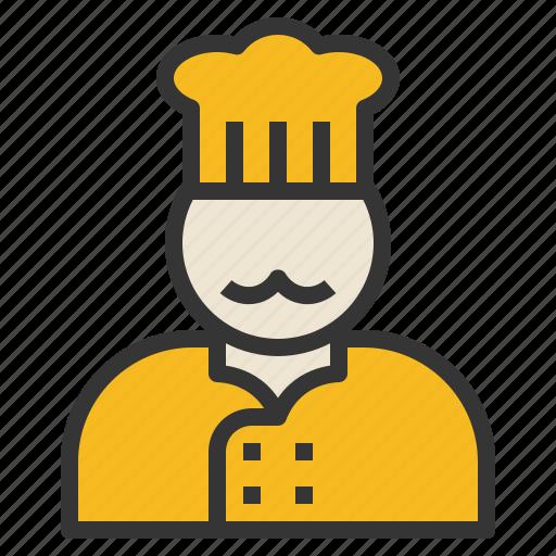Chef, cook, head, occupation, uniform icon