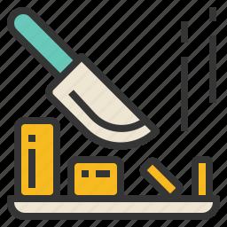 block, chop, chopping, knife icon