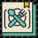 preparation, cookbook, learning, restaurant icon