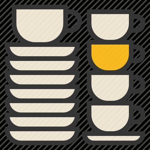 coffee, cup, kitchenware, saucer, utensils icon