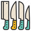 cooking, knives, cutlery, kitchen icon