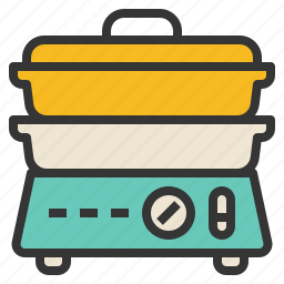 boiler, double, heat, simmer, stove icon