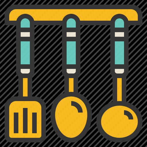 kitchen, ladle, spatula, utensil icon