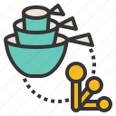 cup, measuring, spoon, tools, utensils icon