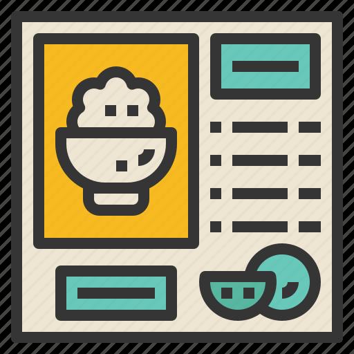 food, formula, instruction, method, recipe icon