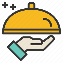 meal, restaurant, serve, service icon