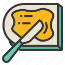 bread, butter, jam, spatula, spread icon