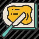 butter, spatula, bread, jam, spread icon