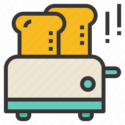 appliance, bread, electric, toaster icon