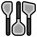 cooking, equipment, food, kitchen, spatula icon