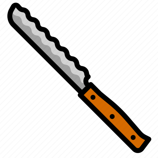 blade, isolated, knife, serrated, sharp, tool icon