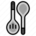 cooking, equipment, food, isolated, kitchen, spatula, spoon