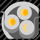 background, breakfast, egg, food, fresh, ring, white