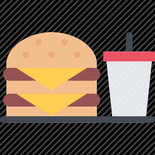 burger, cook, cooking, food, kitchen, restaurant, soda icon