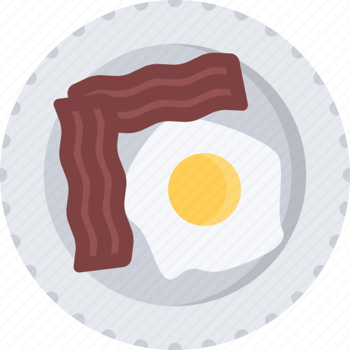bacon, cook, cooking, eggs, food, fried, restaurant icon