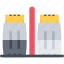cook, cooking, food, kitchen, pepper, restaurant, salt icon