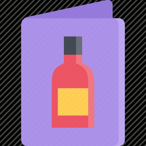 cook, cooking, food, kitchen, list, restaurant, wine icon